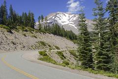 Alpine terrain around Mount Shasta - stock photo