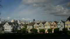 4K San Francisco Alamo Square 03 Dolly Up Stock Footage