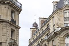 The Tip of the Eiffel Tower Hidden Stock Photos