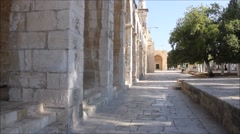 Temple Mount in the Holy City of Jerusalem Stock Footage