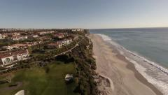 Aerial Luxury homes near the coast of California  Stock Footage