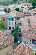 Moustiers-Sainte-Marie, France, Provence - stock photo