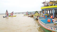 Boats in the River at Indian Carnival Stock Footage