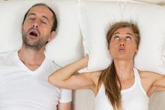 Woman can not sleep Stock Photos