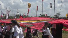 Flags and Kites Team Presentation 4K Stock Footage