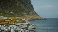 A static scene over the shoreline of Ailsa Craig, Ayrshire Stock Footage