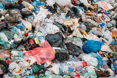 Junkyard Of Domestic Garbage In Landfill Kuvituskuvat