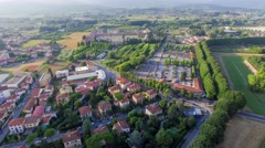 Lucca, Italy - Aerial cityscape from drone point of view Stock Footage
