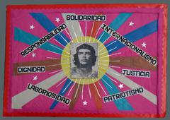 Che Guevara and slogans in a Havana primary school, Havana, Cuba - stock photo