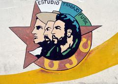Mural for the (Cuban) Young Communist League in Havana, Cuba Stock Photos