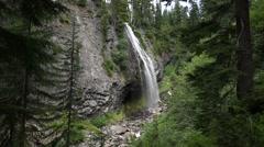 Narada Falls, Mount Rainier National Park Stock Footage