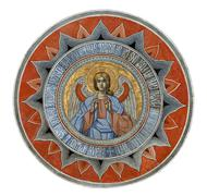 Detail from ceiling of Orthodox Church in Antrim Monastery, Bucharest, Romani Stock Photos