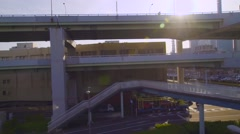 Real-time ride through Kobe Japan on the monorail Stock Footage