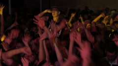 Dancing crowd at the party / Music festival Stock Footage