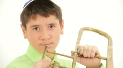 Trumpet Player Stock Footage