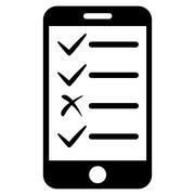Mobile Tasks Icon from Commerce Set - stock illustration