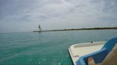 Riding a Pedal Boat, Caribbean, Varadero, Cuba Stock Footage