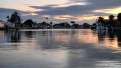 Boat ride at Sunset, Southwest Florida Stock Footage