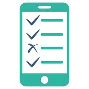 Stock Illustration of Mobile Tasks Icon from Commerce Set