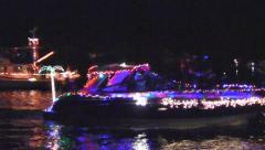 Cape Coral, Florida Boat Parade Stock Footage