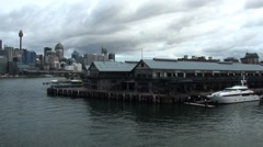 Sydney Harbour Docks Stock Footage
