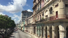 Architecture in Havana Vieja, Cuba Stock Footage