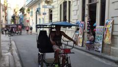 Havana Vieja in Cuba - stock footage