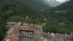 Monastery in the mountain Stock Footage
