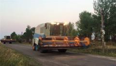 Harvesters for harvesting grain Stock Footage