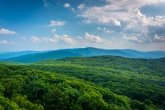View of the Blue Ridge Mountains from Stony Man Mountain in Shenandoah Nation Stock Photos