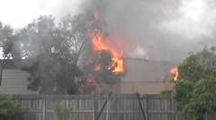 School Fire Classroom ablaze consumed with fire - stock footage