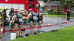 Hazmat team decontamination washing process Arkistovideo
