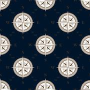 Vintage compass seamless pattern background - stock illustration