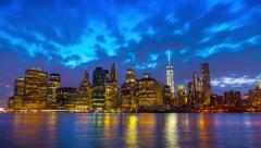 Timelapse of famous Manhattan cityscape, New York City, day till night Arkistovideo