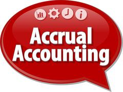 Accrual accounting Business term speech bubble illustration Stock Illustration