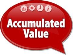 Stock Illustration of Accumulated value Business term speech bubble illustration