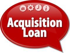 Acquisition Loan Business term speech bubble illustration Stock Illustration