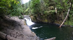 Lower Punchbowl Falls, Columbia River Gorge National Scenic Area, Oregon Stock Footage