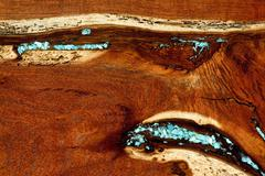 Burled Redwood Background. Stock Photos