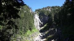 Comet Falls, Mount Rainier National Park, Washington Stock Footage