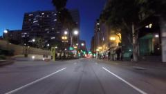 Los Angeles Downtown Driving Time Lapse 30 Green Lights in a Row Stock Footage