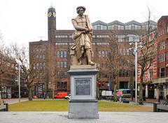 Rembrandt Statue - Amsterdam Stock Photos