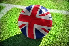 Football ball with the national flag of great britain Stock Photos