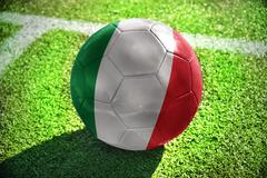 football ball with the national flag of italy - stock photo