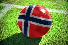 football ball with the national flag of norway - stock photo