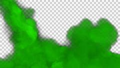 Animated toxic green gas filling up whole screen 2 in 4k Stock Footage