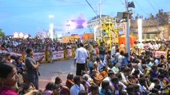 Indian People enjoying Religion Carnival Stock Footage