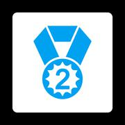 Second place icon from Award Buttons OverColor Set - stock illustration