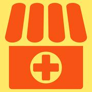 Drugstore icon from Business Bicolor Set - stock illustration