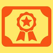 Certificate icon from Business Bicolor Set Stock Illustration